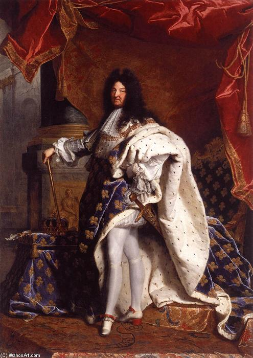 famous painting Portrait of Louis XIV of Hyacinthe Rigaud