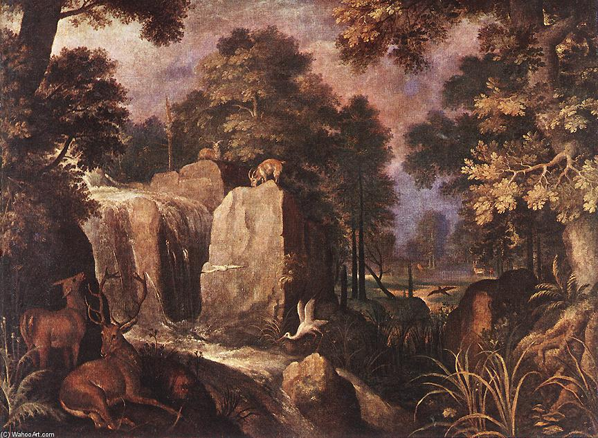 Order Paintings Reproductions | Rocky Landscape by Roelandt Savery | Most-Famous-Paintings.com