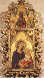 Simone Martini - Madonna and Child with Angels and the Saviour