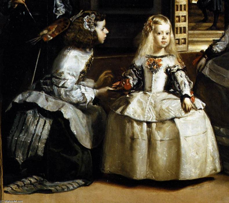 Buy Museum Art Reproductions | Las Meninas (detail) by Diego Velazquez | Most-Famous-Paintings.com
