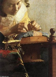 Jan Vermeer - The Lacemaker (detail)