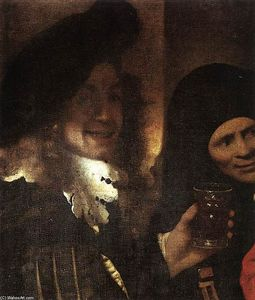 Jan Vermeer - The Procuress (detail)