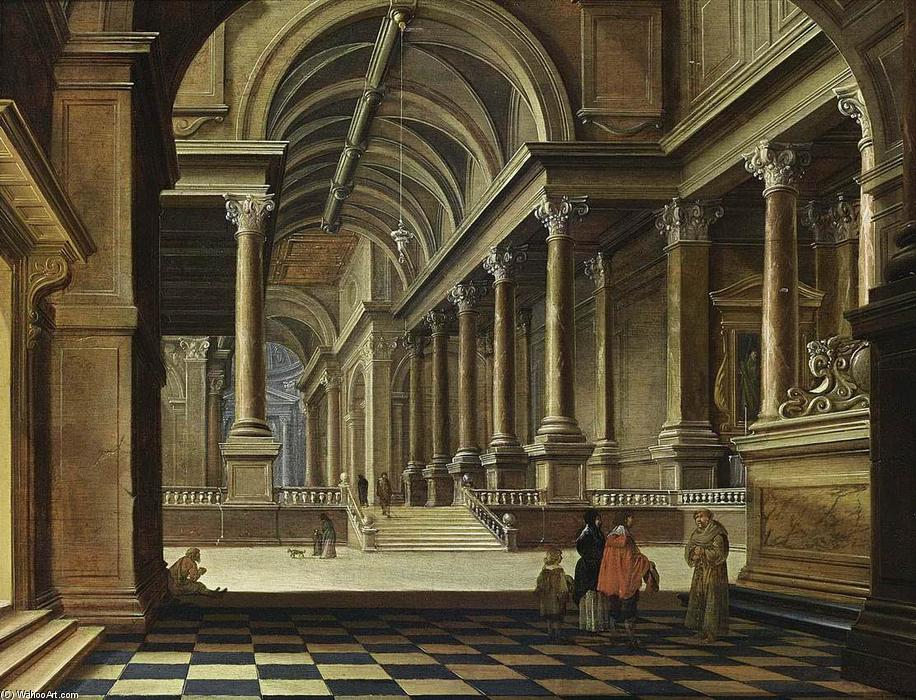 famous painting Interior of an Imaginary Church of Bartholomeus Corneliszoon Van Bassen
