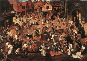Pieter Bruegel The Younger - Battle of Carnival and Lent