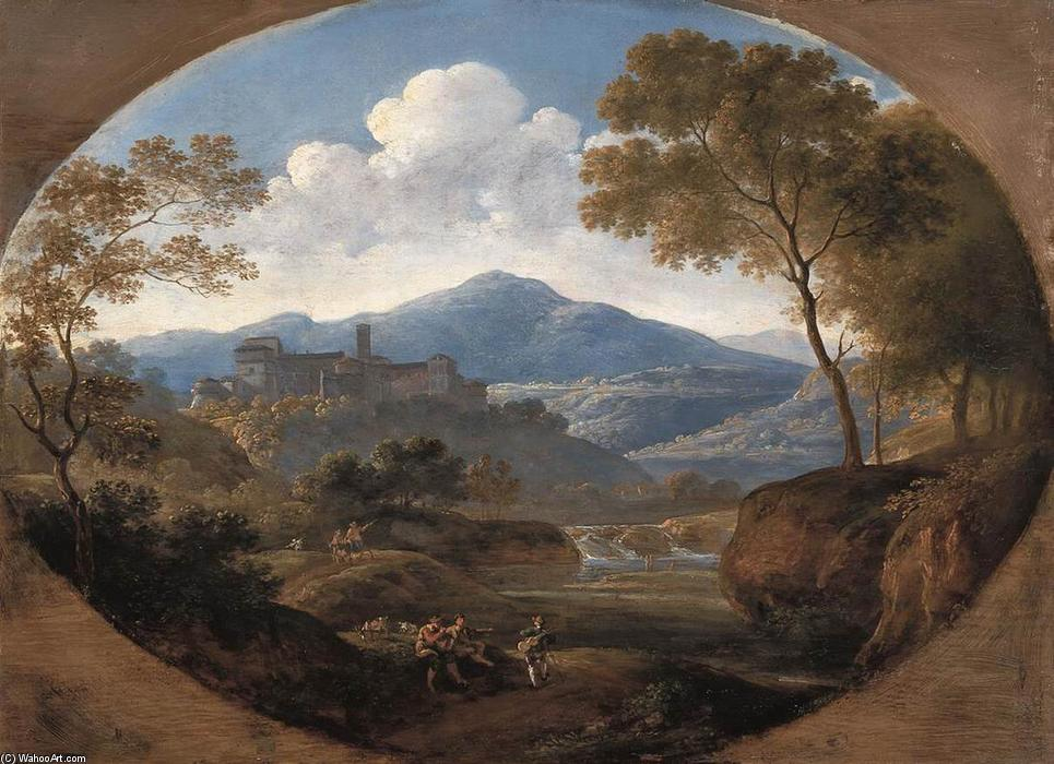 Order Reproductions | Grottaferrata near Rome by Johann Georg Von Dillis | Most-Famous-Paintings.com