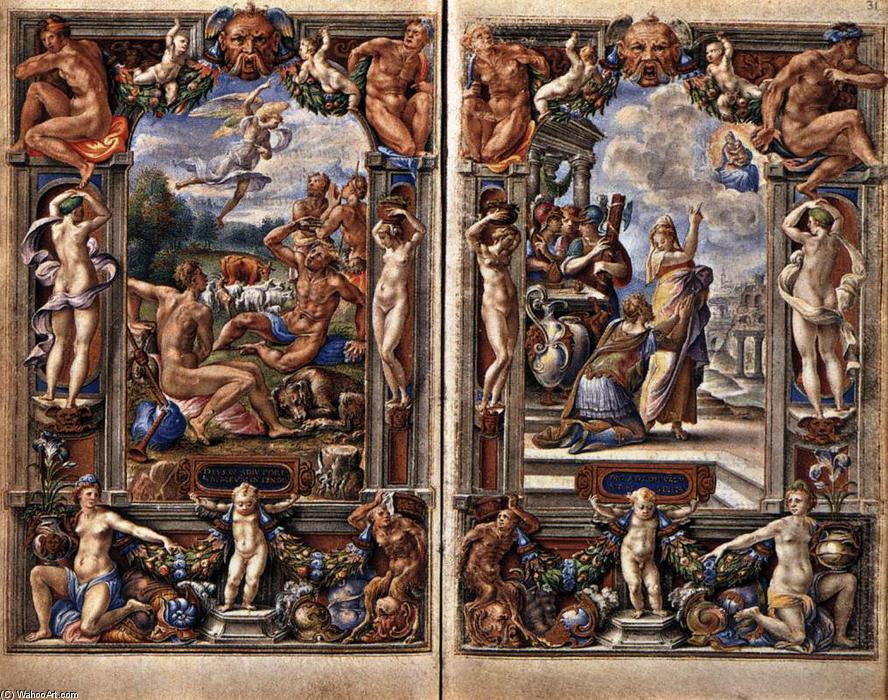 famous painting Pages from the Farnese Hours of Giulio Clovio