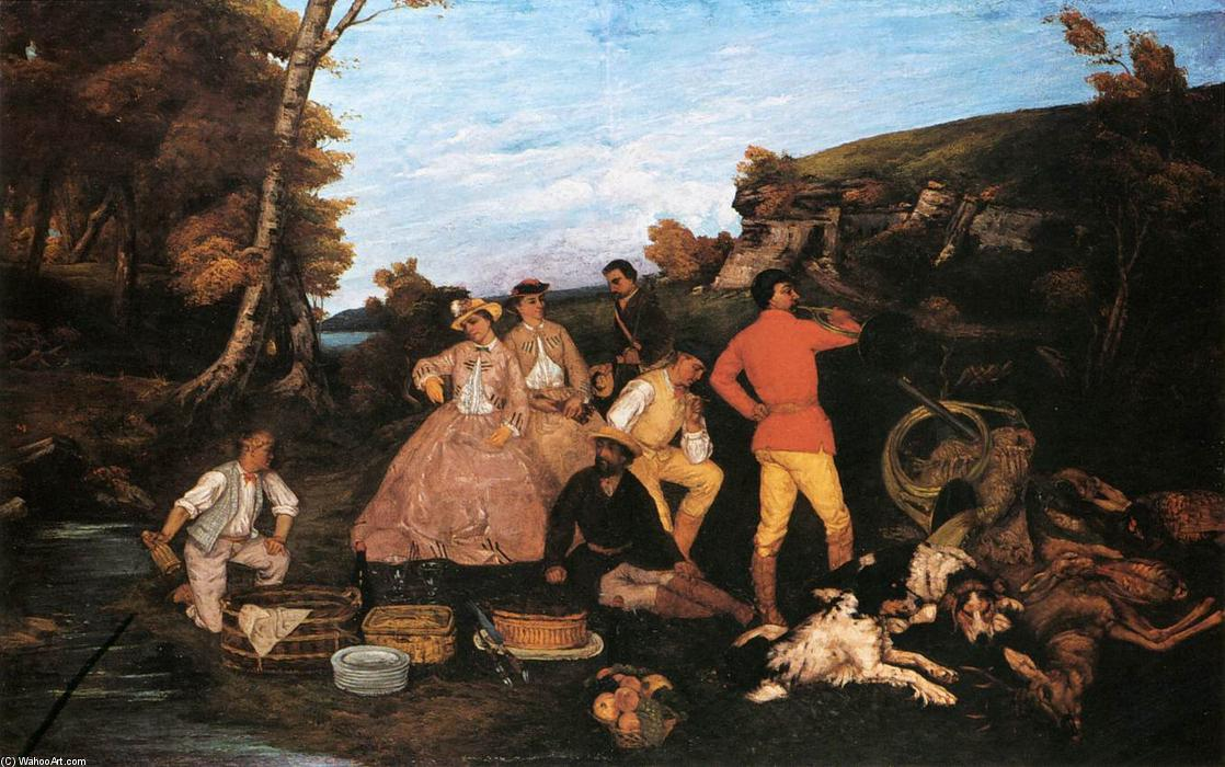 Order Museum Quality Copies | The Hunt Breakfast by Gustave Courbet | Most-Famous-Paintings.com