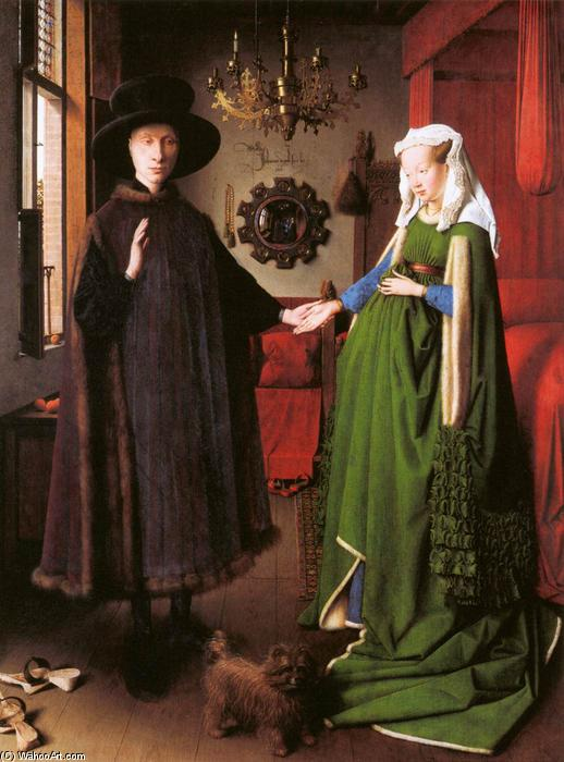 famous painting Portrait of Giovanni Arnolfini and his Wife of Jan Van Eyck