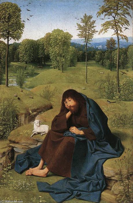 famous painting John the Baptist in the Wilderness of Geertgen Tot Sint Jans