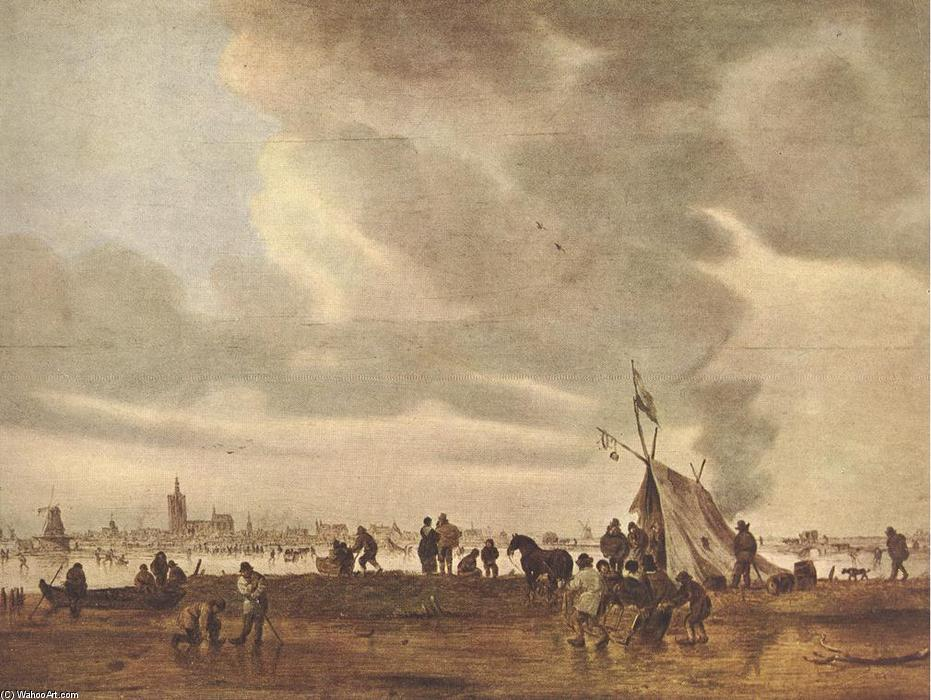 famous painting View of The Hague in Winter of Jan Van Goyen