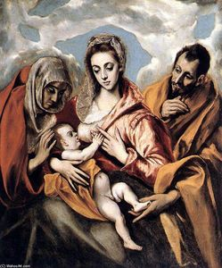 El Greco (Doménikos Theotokopoulos) - The Holy Family