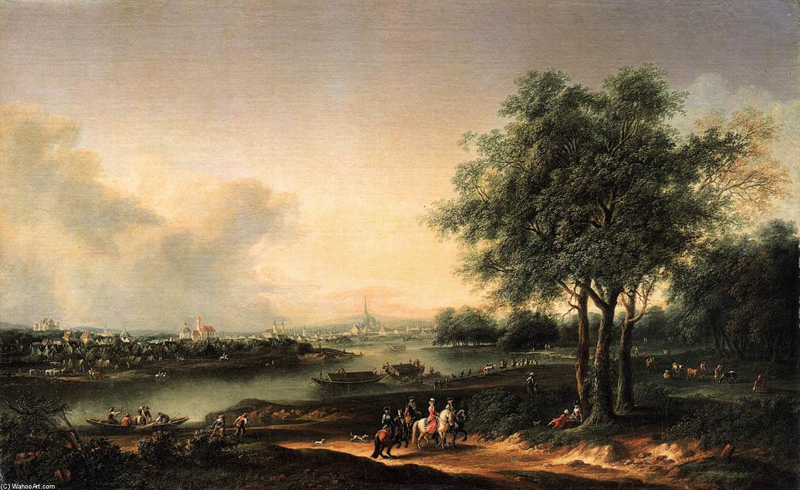 famous painting View from the Prater towards the Suburbs of Vienna of Josef Heideloff