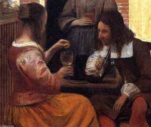 Pieter De Hooch - Village House (detail)