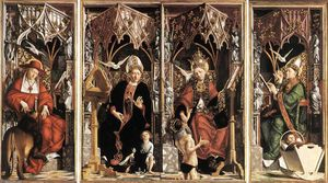 Michael Pacher - Altarpiece of the Church Fathers