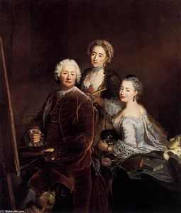 Antoine Pesne - Self-Portrait with Daughters