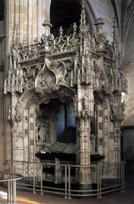 famous painting Tomb of Margaret of Austria of Jan Van Roome