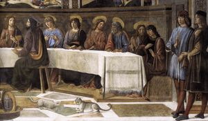 Cosimo Rosselli - The Last Supper (detail)