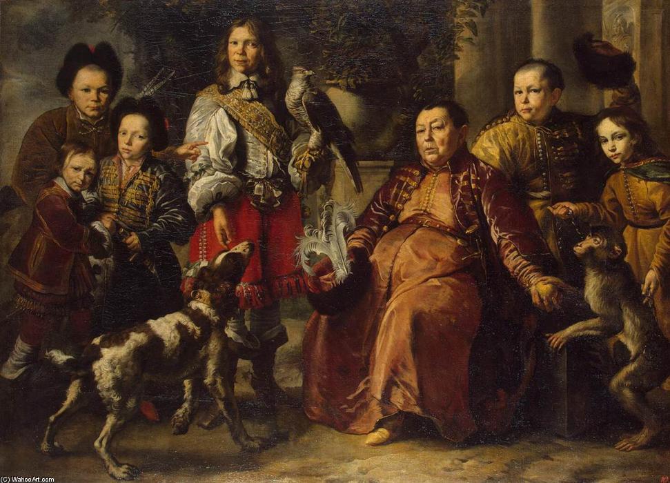 Famous Painting Family Portrait Of Daniel Ii Schultz