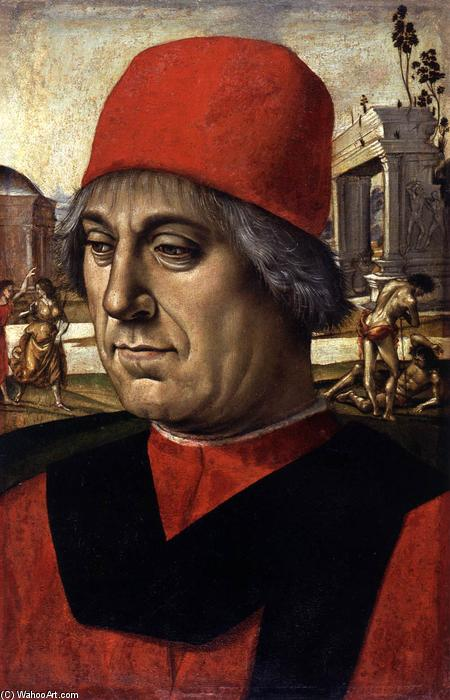 Order Museum Quality Copies | Portrait of an Elderly Man by Luca Signorelli | Most-Famous-Paintings.com