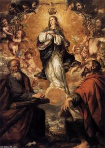 Juan De Valdés Leal - Virgin of the Immaculate Conception with Sts Andrew and John the Baptist