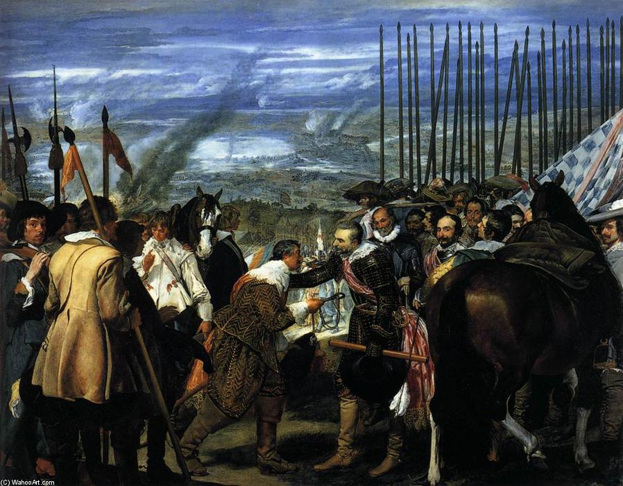 famous painting The Surrender of Breda (Las Lanzas) of Diego Velazquez
