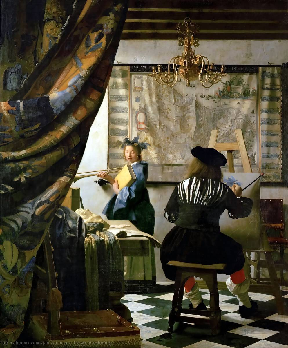 Order Reproductions | The Art of Painting by Jan Vermeer | Most-Famous-Paintings.com