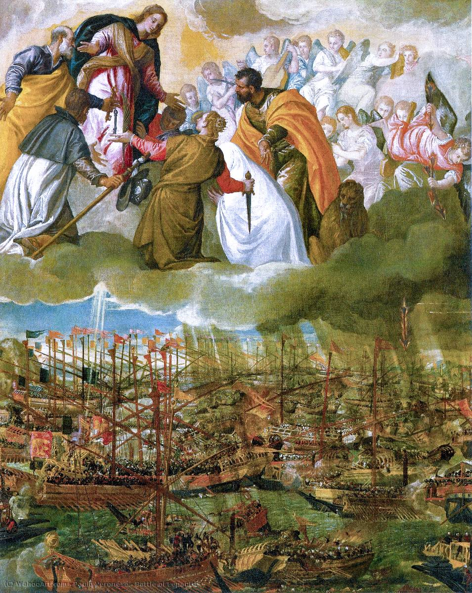famous painting Battle of Lepanto of Paolo Veronese