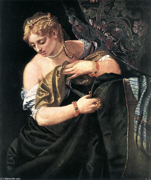 Order Reproductions | Lucretia by Paolo Veronese | Most-Famous-Paintings.com