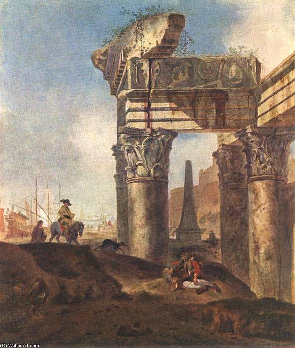 Order Art Reproductions | Ancient Ruins by Jan Baptist Weenix | Most-Famous-Paintings.com