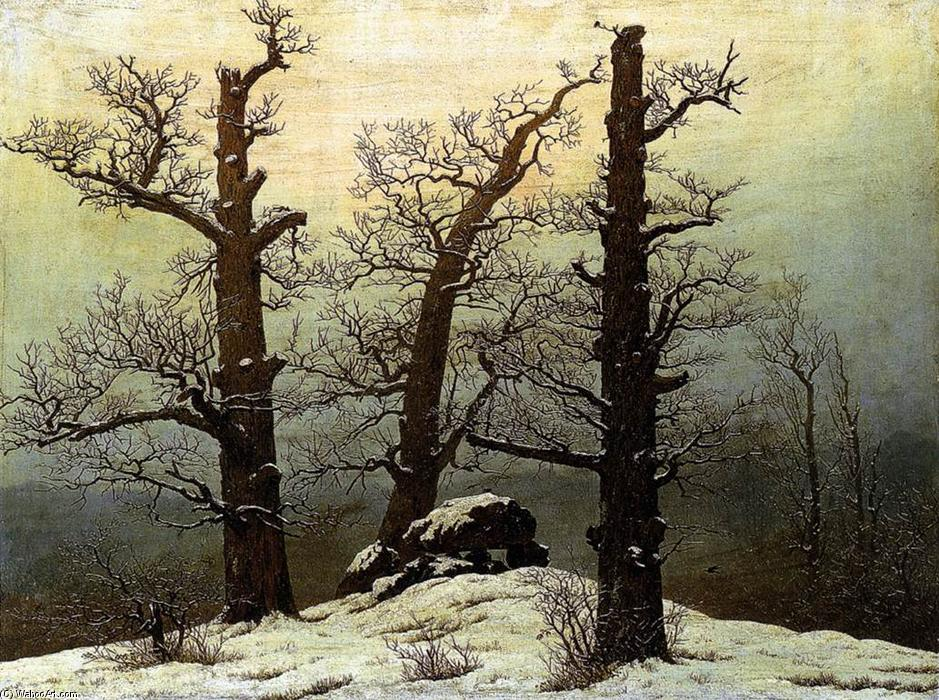 Order Painting Copy : Dolmen in the Snow by Caspar David Friedrich | Most-Famous-Paintings.com