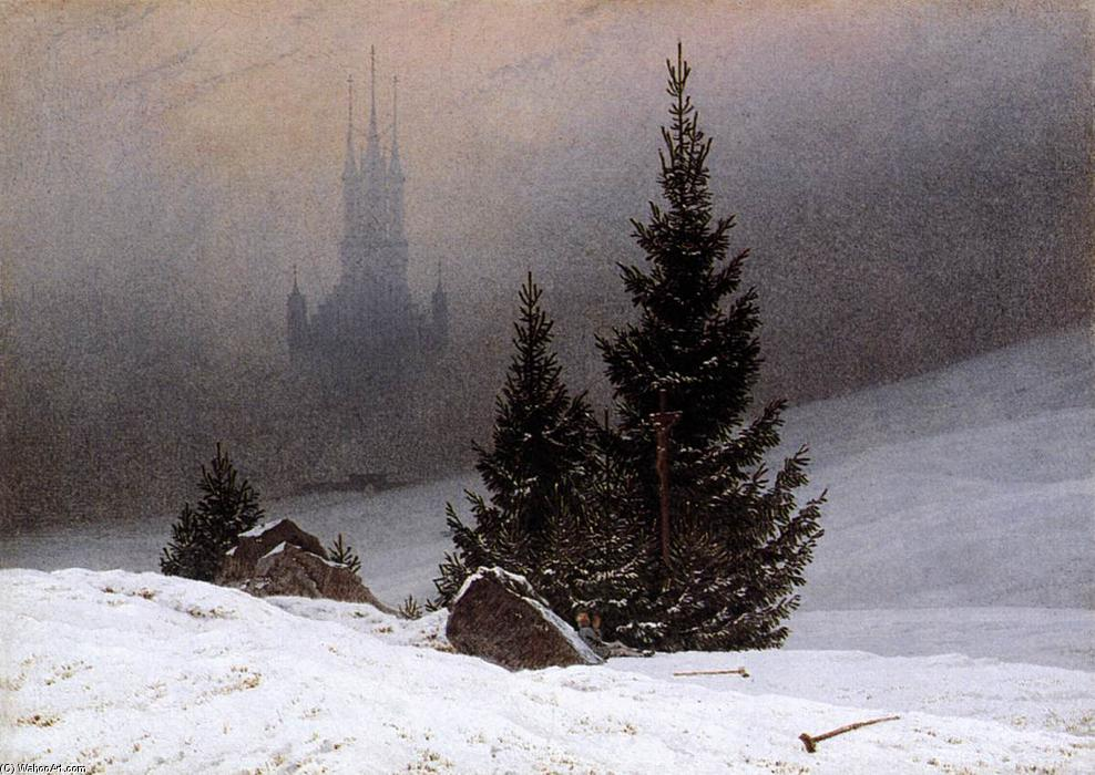 famous painting Winter Landscape of Caspar David Friedrich