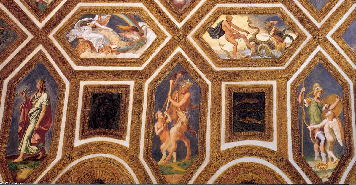 famous painting Ceiling decoration (detail) (10) of Giulio Romano