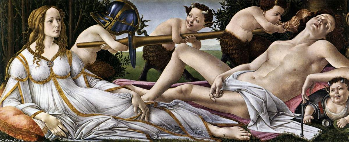 Order Reproductions | Venus and Mars by Sandro Botticelli | Most-Famous-Paintings.com