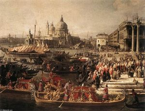 Giovanni Antonio Canal (Canaletto) - Arrival of the French Ambassador in Venice (detail)
