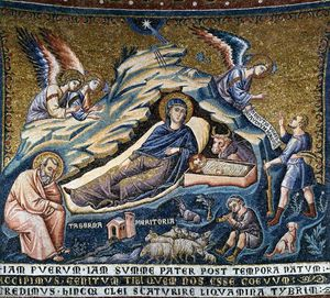 Pietro Cavallini - Apse: 3. Nativity of Christ