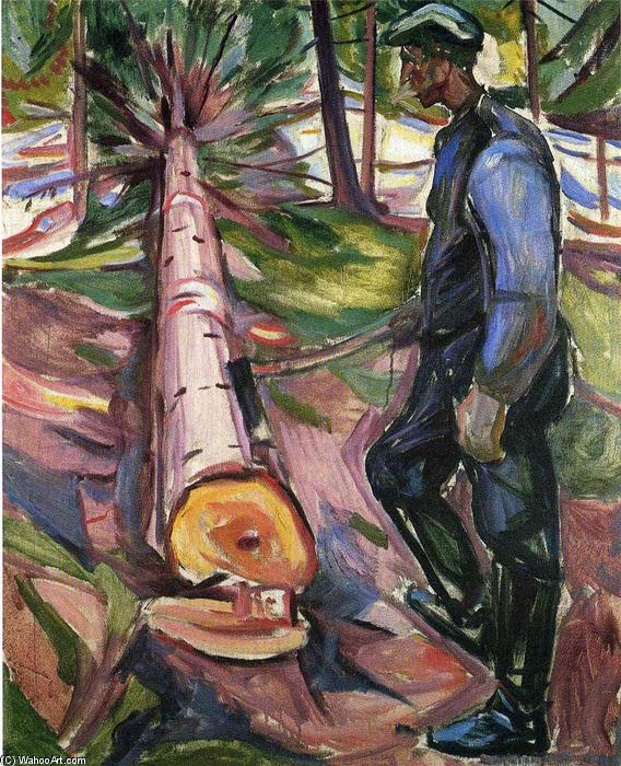 famous painting The Lumberjack of Edvard Munch