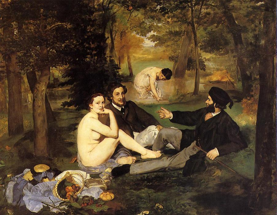 famous painting Luncheon on the Grass of Edouard Manet