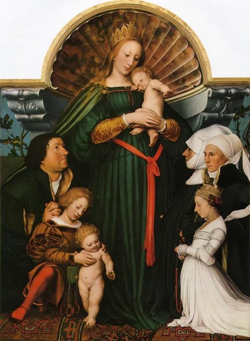 Order Reproductions | Meyer Madonna (also known as Darmstadt Madonna) by Hans Holbein The Younger | Most-Famous-Paintings.com