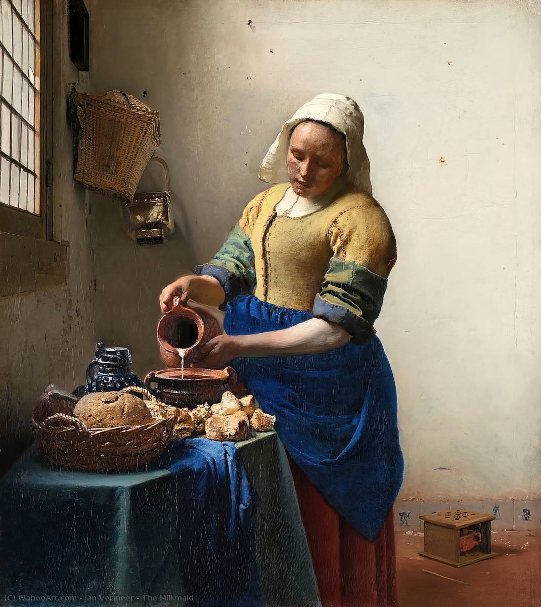 Order Reproductions | The Milkmaid by Jan Vermeer | Most-Famous-Paintings.com