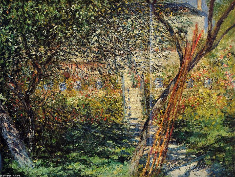 famous painting Monet's Garden at Vetheuil of Claude Monet