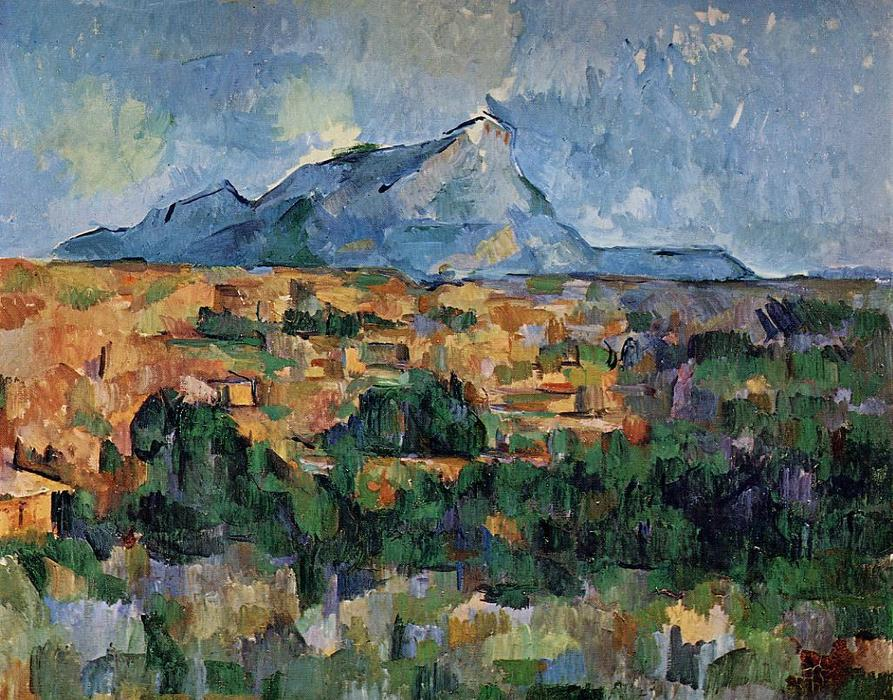 famous painting Mont Sainte-Victoire of Paul Cezanne