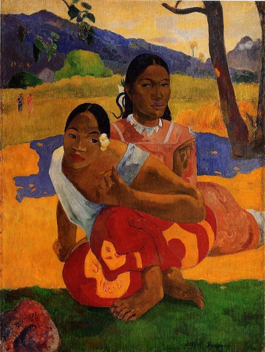 Order Reproductions | Nafeaffaa Ipolpo (also known as When Will You Marry.) by Paul Gauguin | Most-Famous-Paintings.com