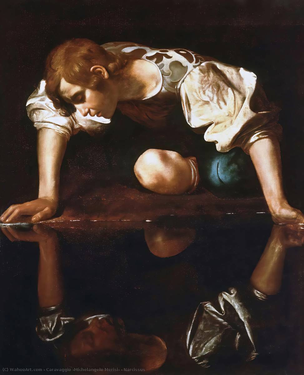 Order Reproductions | Narcissus by Caravaggio (Michelangelo Merisi) | Most-Famous-Paintings.com