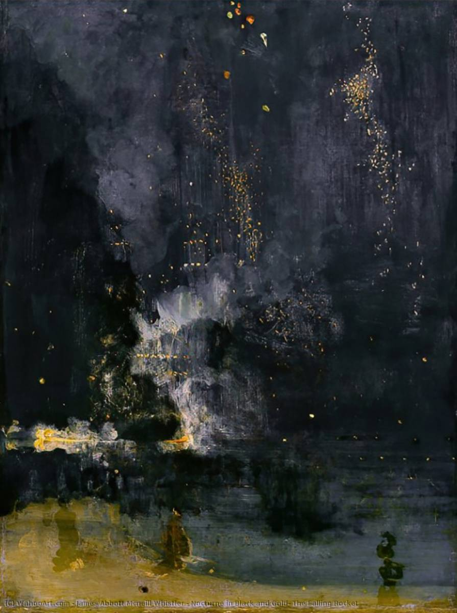 famous painting Nocturne in Black and Gold: The Falling Rocket of James Abbott Mcneill Whistler