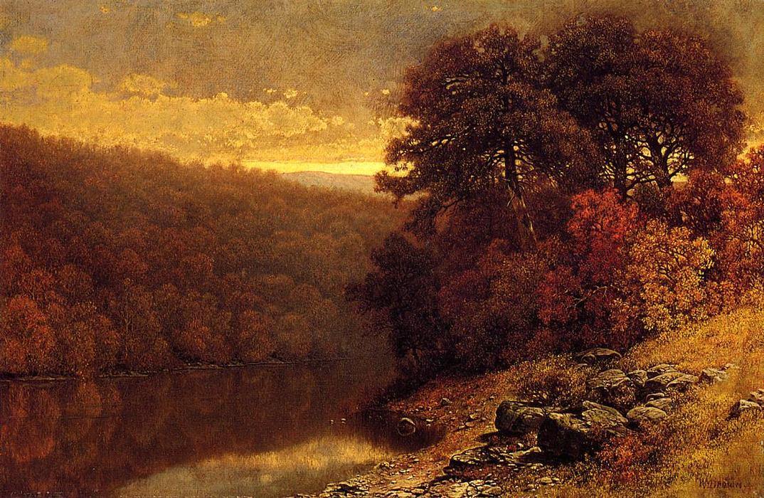 famous painting October on Great Otter Creek, Vermont of William Mason Brown