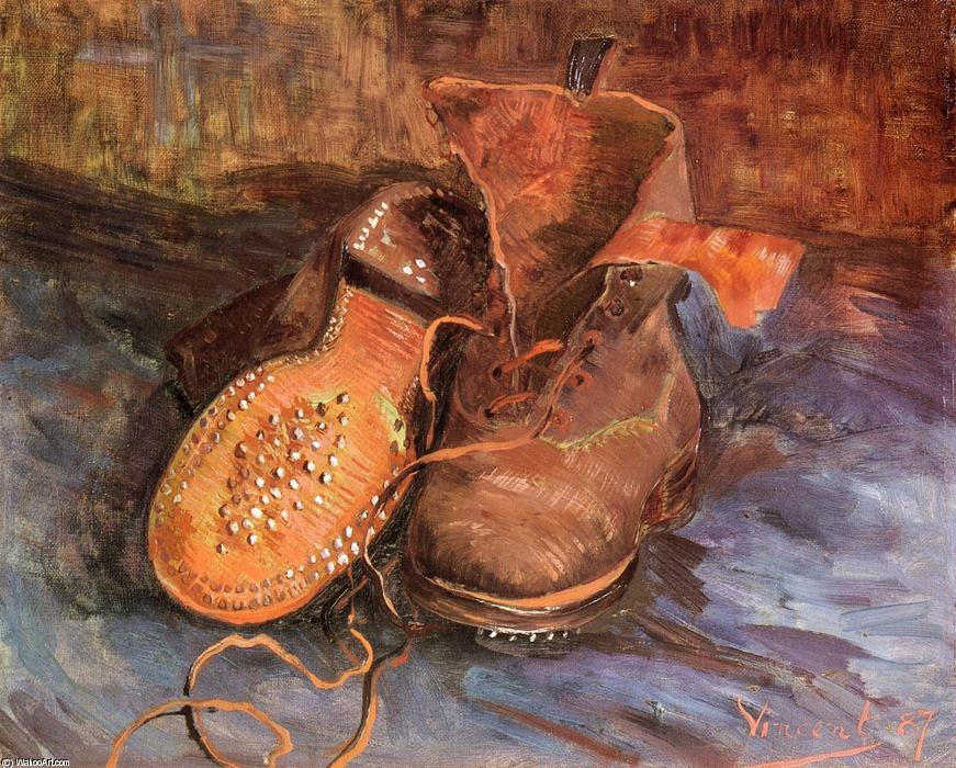 famous painting A Pair of Shoes of Vincent Van Gogh