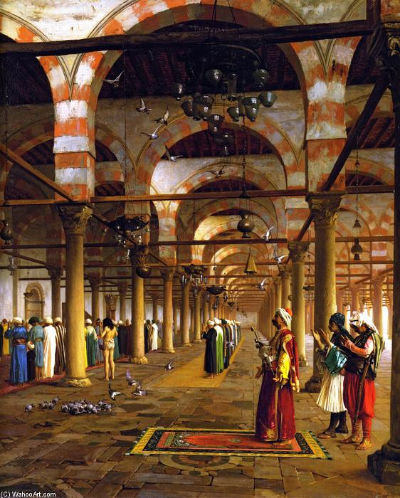 famous painting Paryer in the Mosque of Jean Léon Gérôme