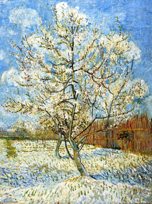 famous painting Peach Trees in Blossom of Vincent Van Gogh