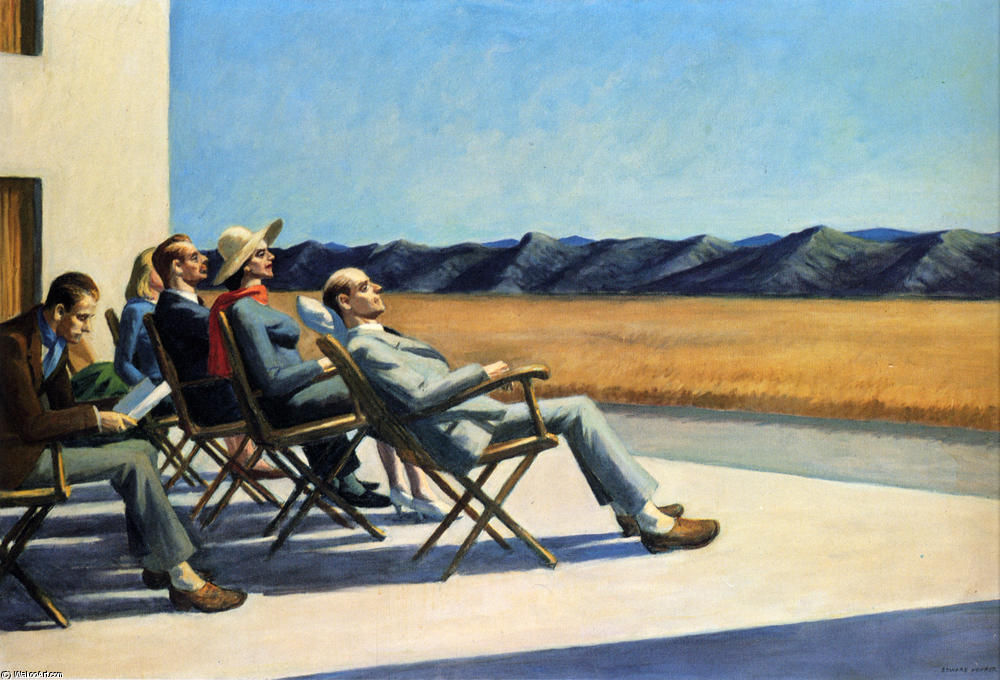 famous painting People in the Sun of Edward Hopper