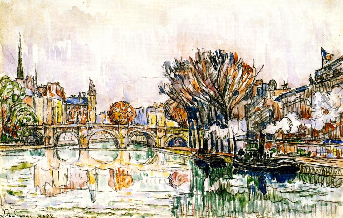 famous painting The Pont Neuf, Paris of Paul Signac